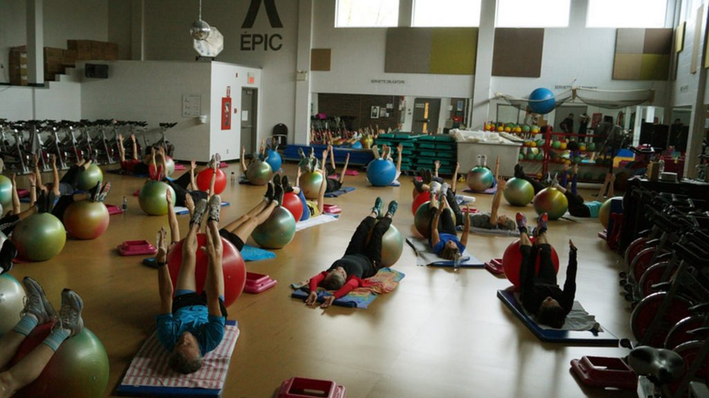Cours exercices sur ballon suisse